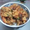今日の晩飯 かき揚げ天丼を作ってみた。