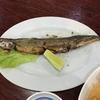 中華料理店「鹿港小鎮」のサンマ(秋刀魚)。