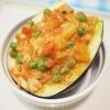 丸茄子鶏皮野菜詰めオーブン焼き