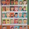 6年生:自画像が並ぶ