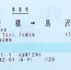 猿橋から鳥沢への乗車券