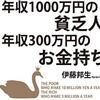 【経済的自由への道おすすめ書籍②】年収1000万円の貧乏人、年収300万円のお金持ち