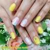 アッシュイエローで春らしく♡人気の「パステル・クォーツ」デザインをアレンジ☆ジェル