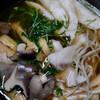 夕食:ぶりとヒラタケで鍋