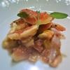 イチジクと生ハムのサラダ、マンゴー風味