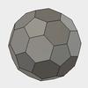 サッカーボールな半正多面体、切頂20面体をFusion360でモデリングする