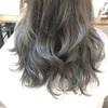 新潟 美容師 三林 ハイライト バレイヤージュカラー シルバー×グレージュ