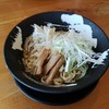 「冷やぶっかけ(ひもかわ麺)」客野製麺所