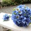 造花の青い花だけでブーケづくり 【フラワーデザイナーが作るオーダーメイド】