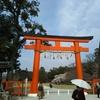 上賀茂神社とカルガモ夫婦