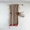 ダイソーのウールロービングで編むスヌード(2)