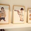 H TOKYO京都店のポップアップ・ストアでは、新作イラストアートピースもあります!