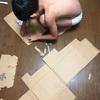 子どもたちの創作活動。