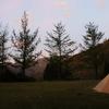 世界遺産でソロキャンプ