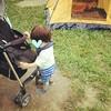 【1歳0ヶ月】テントが来たので公園へ