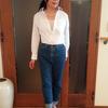 40代からの白シャツ&デニムパンツはレディライクな清潔感を