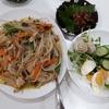 6/17 夕飯☆ チキンのマヨネーズ焼き、豆苗のサラダ、鰻の肝焼き(総菜)