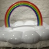 貝殻エアソファーで大人気!pucapucaの新作は虹をモチーフしたソファー