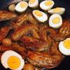 鶏手羽と卵のウスターソース煮~超簡単!