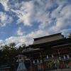 冬。湊川神社からモザイク。