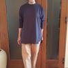 大人でも着られるオーバーサイズのオーガニックコットンロンT