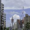 神戸・三宮は気まぐれ天気の土曜日でした。