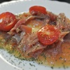 生ハムと野菜のピュレのトマトのをリース風サラダ