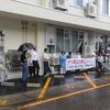 雨の中---戦争法を発動させない全国統一19日集会
