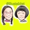 iPadで描いた たんぽぽ白鳥久美子さんの似顔絵と似顔絵が出来上がるまで。