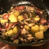 タコとジャガイモとヒラタケの絶品アヒージョ!ポイント・コツを紹介します!!(男子大学生ヤッスーのこだわりレシピ)