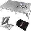 KVASS 遮熱テーブル 天板折り畳み式 ステンレス製!① ★精度・質感・使い勝手・価格ともに、お勧めですが・・・