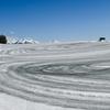 美瑛の冬景色~3月の融雪剤が撒かれた丘の風景たち