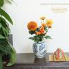 今日のお花 菊と茄子 Halloween
