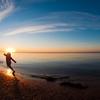 プリンスエドワード島の赤土と夕日