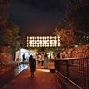 堀川会場のライトアップ、京の七夕2017。