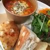 チーズオニオントマトスープのランチ