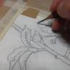 日本画 下図の転写法。 ~小さい絵なら念紙いらず!簡単に転写を済ます方法~