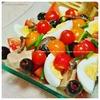 簡単オリーブの漬け直しとツナのコンフィで作る|クラシカルなニース風サラダ