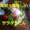 簡単!美味しい!サラダうどんの作り方【レシピ】