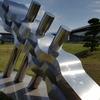 ■島根県立美術館:野外彫刻 『WAVING FIGURE』 建畑覚造