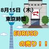 【8/15 東京時間】EURUSDの1.1130に注目!!