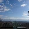 呉羽丘陵を走る