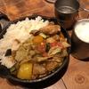 「野菜を食べるカレーcamp」のキャンプ気分でいただく野菜たっぷりのカレー