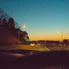 落ちゆく夕陽。