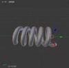 Blender でカーブを利用してバネみたいなものを作る