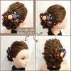 『ヘアセットに合わせた髪飾り』