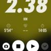 2018/02/05のトレーニング(ラン2.4km)
