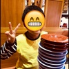 今日の夕食→くら寿司