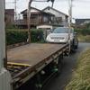 吉川市から車検の切れたパンクの故障車をレッカー車で廃車の引き取りしました。