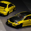 【モデルインプレッション】 CM Model 1/64 Mitsubishi Lancer Evolution IX  (Yellow/Black)